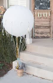hot air balloon centerpiece 23 balloon decorations for baby showers shelterness