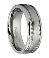 titanium wedding rings titanium wedding band men edged in milgrain