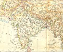 North India Map by Natgeog1951max Jpg