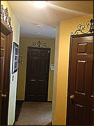 espresso brown doors through our my house matching baseboards and
