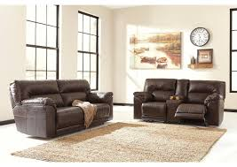 Reclining Sofas And Loveseats Furniture Barrettsville Durablend Chocolate 2 Seat Reclining