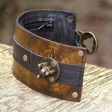 leather bracelet cuff women images Steampunk leather wrist wallet bracelet cuff for men women that jpg