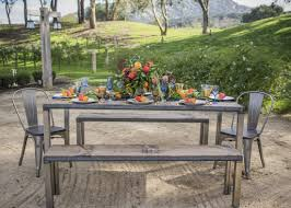 picnic table rentals rickety swank industrial farm tables event rentals party