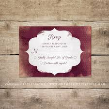 Red And Black Wedding Invitations Red And Cream Indian Wedding Invitation Wine Watercolor Wedding