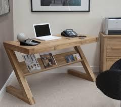 Modern Oak Desk Eton Solid Oak Modern Furniture Laptop Office Pc Computer Z Desk