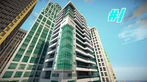 Modern City Minecraft Let U0027s Build A Modern City Ep 1 Modern Hotel Youtube