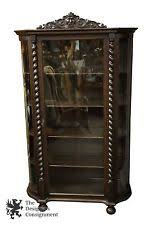 Antique Curio Cabinet With Clock Antique Curio Cabinets Ebay