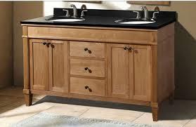classic 60 inch weathered oak bathroom vanity with black