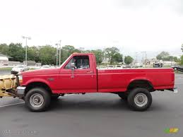 Ford F350 Dump Truck With Plow - ultra red 1995 ford f350 xl regular cab 4x4 plow truck exterior
