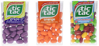 tic tac tic tac mint flavors grape orange and fruit adventure