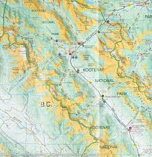 Map Of Western Canada by Map Of Kootenay National Park British Columbia Gem Trek