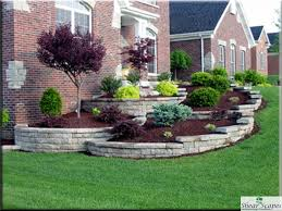 symmetrical front landscape design w house pinterest inexpensive