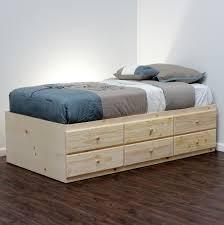 6 Drawer Bed Frame Storage Bed Pine Wood Craft Storage Storage