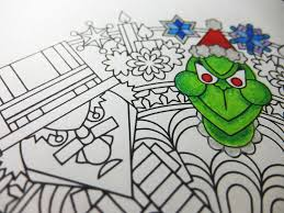 humbug christmas mandala candyhippie coloring pages