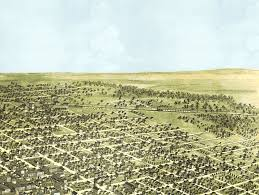Bloomington Illinois Map by Bloomington Illinois In 1867 Bird U0027s Eye View Map Aerial