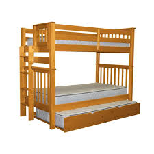 bedz king mission tall twin over twin bunk bed with trundle