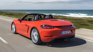 2017 porsche 718 boxster s red rear three quarter hd