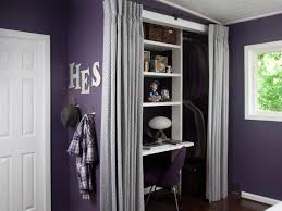 Wall Of Closets For Bedroom Hidden Wall Bedroom Closets Design With Curtains In A Purple