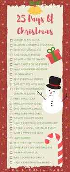 25 days of traditions your family will