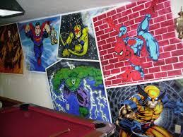 Superhero Home Decor Superhero Wall Murals Kids Room Ideas Wall Murals Gallery For Kid