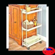 Bathroom Storage Carts Narrow Rolling Cart Ezpass Club