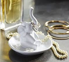 silver elephant ring holder images Ceramic elephant ring holder pottery barn jpg