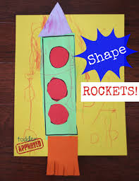 shape rockets back to basics craft and kid