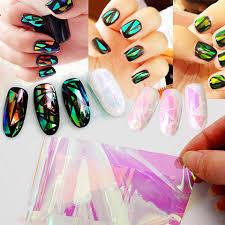aliexpress com buy mirror foil broken glass stickers for nails