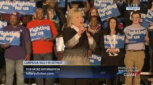 hillary clinton campaign rally detroit michigan mar 7 2016 c