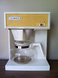 Vintage Mr Coffee II Coffeemaker Maker Yellow and White Flower
