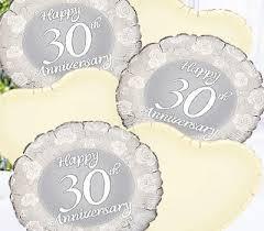 30 wedding anniversary pearl wedding anniversary balloon bouquet code jgf788pwabb 30th