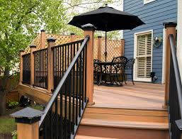 outdoor lowes deck rails fiberon railing trex deck railing
