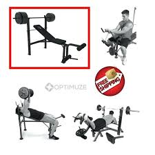 Olympic Bench Set With Weights Weight Lifting Bench Press Set Weight Lifting Bench Set Tunturi