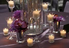Cylinder Floating Candle Vase Set Of 3 Glass Stemmed Candle Holders Stemmed Glass Candle Centerpiece