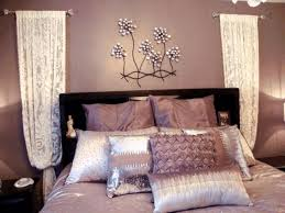 bedroom ideas for adults dusty white wallpaint caramel brown