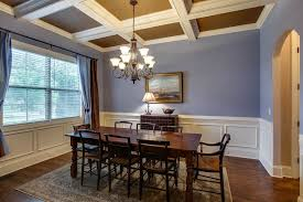 Dining Rooms With Wainscoting Traditional Dining Room With Crown Molding U0026 Carpet In Spring Hill