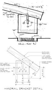 handrail bracket detail architecture details pinterest