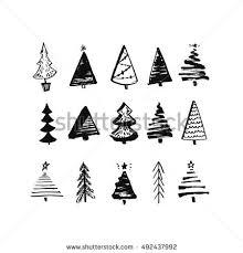 tree set stock vector 155540651