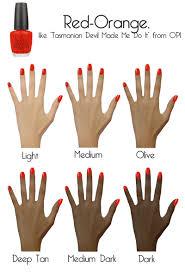2011 nail color trends orange polish on skin tones u0026 shades