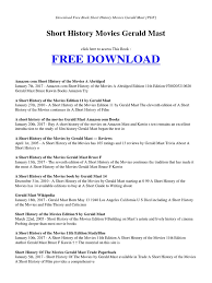 short history movies gerald mast online services publishing