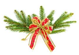 christmas ribbons christmas tree branch with ribbon christmas decoration stock