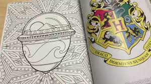 harry potter coloring book review and flip through hp and the