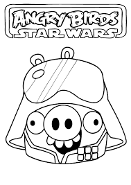 coloring pages star wars angry birds space printable kids angry