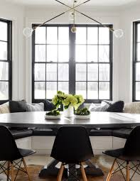 A Cozy Kitchen by A Cozy Black And White Breakfast Nook House Tour On Coco Kelley