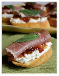 goats cheese canape recipes the dish posts crostini with prosciutto goat cheese