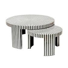 Black And White Rooster Decor B U0026w Marble Nesting Tables U2013 Black Rooster Decor