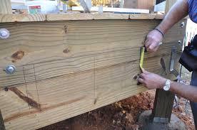 How To Attach A Pergola To A Deck by Decks Com Stair Stringer Attachment