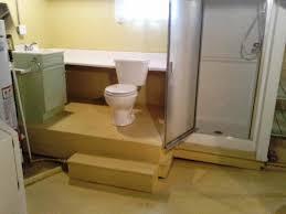 pretty design how to build bathroom in basement basements ideas
