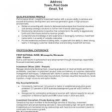 Investment Banking Resume Sle professional resumes simple and investment banking resume sle