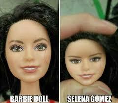 Selena Gomez Memes - barbie doll selena gomez jpg